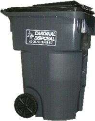 cardinal disposal wheeled tote for garbage removal left